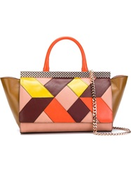 Just Cavalli Geometric Pattern Tote Bag Multicolour