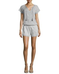 Soft Joie Spica B Printed Short Sleeve Romper Soft Grey