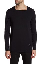 Religion Long Sleeve Square Neck Tee Black