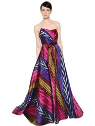 Ingie Abstract Striped Jacquard Gown