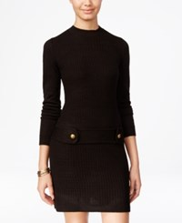 Amy Byer Bcx Juniors' Embellished Cable Knit Sweater Dress Black