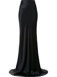 Galvan High Waisted Maxi Skirt Black