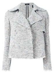 Theory Open Knitted Jacket Grey