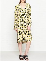 By Malene Birger Rillas Leopard Print Long Sleeve Dress Cream Yellow