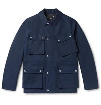 Berluti Twill Field Jacket Navy