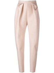 Delpozo High Waisted Origami Trousers Pink Purple