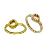 Peculiar Vintage Jewellery Pallenberg Rose Gold Halo Ring