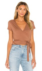 Ag Adriano Goldschmied Kyaryo Top In Brown. Almond Butter