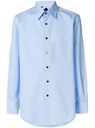 Billionaire Classic Collared Button Front Shirt Blue