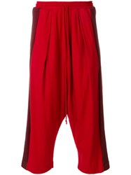 Lost And Found Rooms Harem Trousers Cotton Linen Flax Red