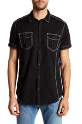 Burnside Short Sleeve Novelty Woven Shirt Black