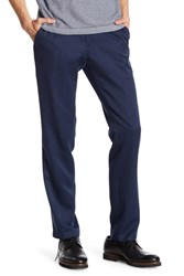 Kenneth Cole Reaction Urban Heather Slim Fit Flat Front Dress Pants 29 34 Inseam Blue