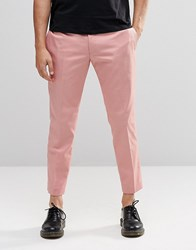Religion Skinny Cropped Trousers In Pink Pink