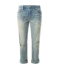 Juicy Couture Embellished Boyfriend Jeans Blue