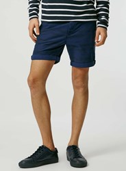 Topman Navy Aztec Stripe Chino Shorts Blue