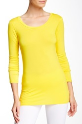 Solow Layering Long Sleeve Tee Yellow