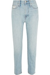 Madewell The Perfect Summer High Rise Straight Leg Jeans Light Blue