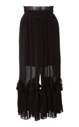 Alice Mccall Valentine Textured High Waisted Skirt Black