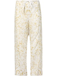 Dosa Wide Leg Trousers Yellow And Orange