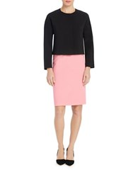 Ellen Tracy Boxy Princess Seamed Top Black
