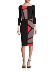 La Petite Robe Di Chiara Boni Boatneck Colorblock Sheath Dress Multi