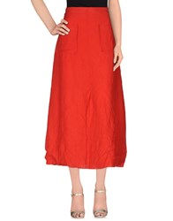 Crea Concept Skirts 3 4 Length Skirts Women Red