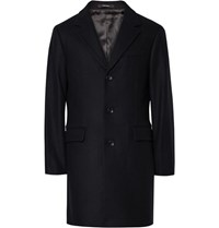 Club Monaco Slim Fit Virgin Wool Blend Coat Midnight Blue