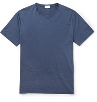 Handvaerk Pima Cotton T Shirt Blue