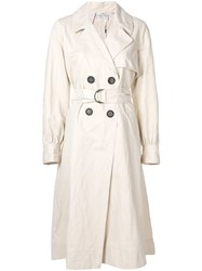 Forte Forte Balloon Sleeve Trench Coat Nude And Neutrals