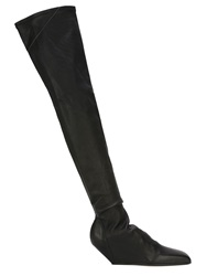 Rick Owens Thigh High Boots Black