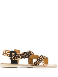 Flamingos Brenda Animal Print Sandals Neutrals