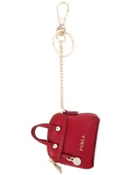 Furla Purse Keyring Red