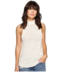 Billabong Cross My Heart Sleeveless Sweater White Cap Women's Sleeveless Blue
