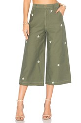 Siwy Loretta Military Wide Leg Green