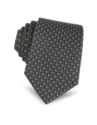 Christian Dior Black And White Signature Tie