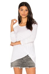 Bobi Light Weight Jersey Twist Tee White