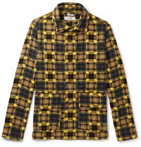 Freemans Sporting Club Checked Cotton Flannel Chore Jacket Yellow