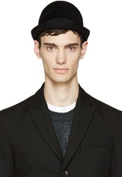 Dsquared Black Rabbit Fur Small Fedora
