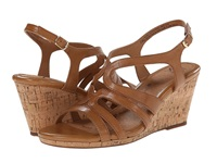 Sofft Corinth Luggage Goat Leather Pull Up Women's Dress Sandals Tan