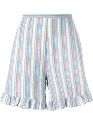 See By Chloe Striped Flared Hem Shorts