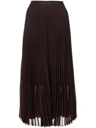 Akris Punto Pleated Skirt Women Polyamide Wool 12 Pink Purple