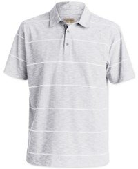 Quiksilver Men's Stripe Slub Polo Med Blue
