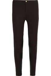 Michael Michael Kors Leather Paneled Stretch Jersey Leggings