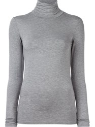 Majestic Filatures Turtleneck Longsleeved Blouse Grey