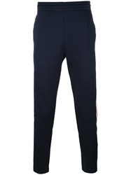 Moncler Striped Trim Track Pants Blue