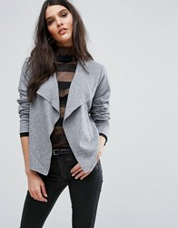 Y.A.S Evita Short Wool Cardigan Light Grey