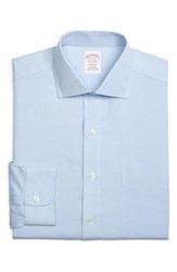 Brooks Brothers Big And Tall Classic Fit Solid Dress Shirt Light Pastel Blue