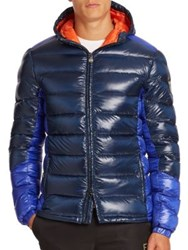 Ea7 Emporio Armani Hooded Puffer Jacket Navy Multi