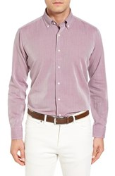 Peter Millar Men's Perfect Pinpoint Regular Fit Sport Shirt Spiced Plum