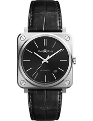 Tissot Brs92 Blc St Scr Steel And Leather Watch